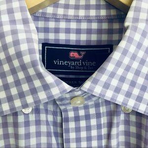 Vineyard Vines Gingham Tucker Shirt button down M